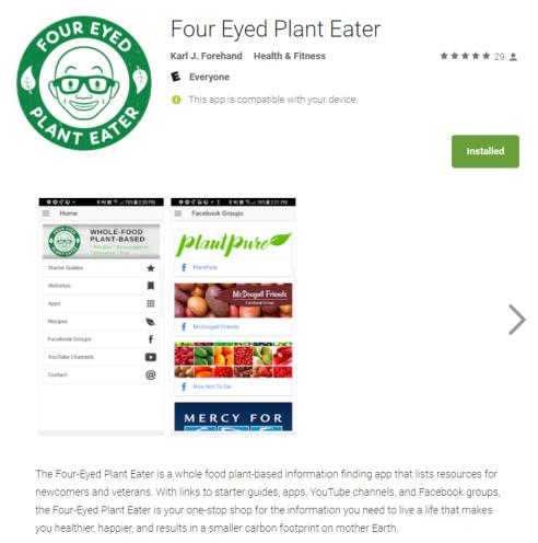 four eyed plant eater app